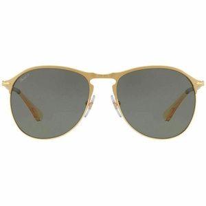 Persol Pilot Style Sunglasses Green Polarized Lens